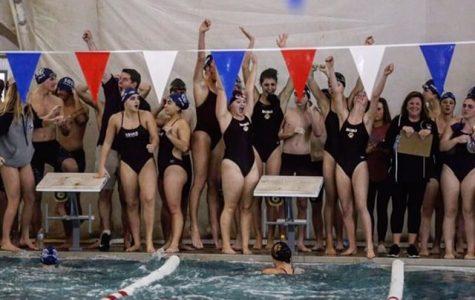 Girls Swim Team finally wins against Manasquan