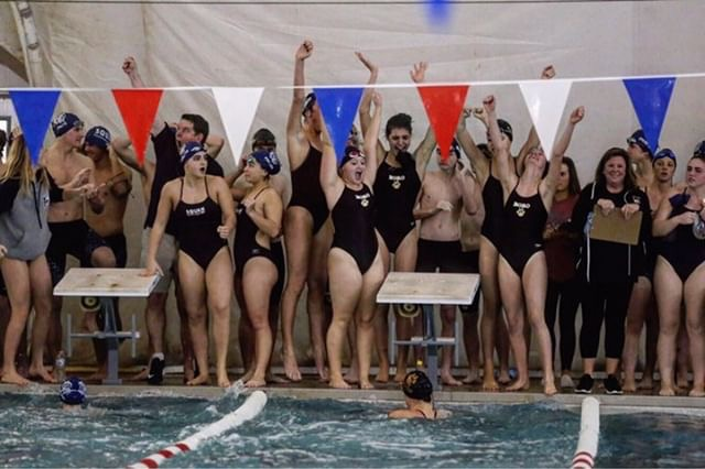 Swimmers+celebrate+victory+over+Manasquan