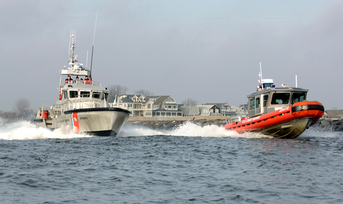 Point Pleasant Coast Guard at the Manasquan Inlet