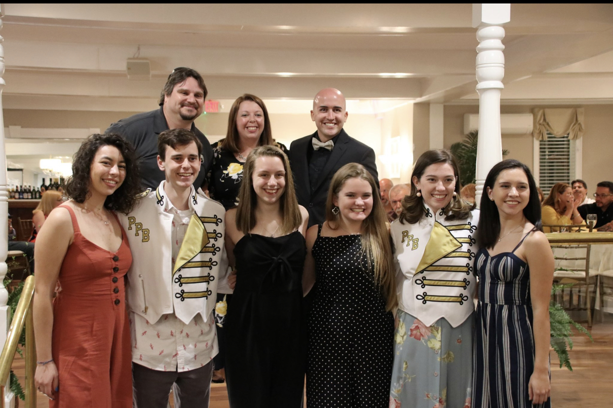 Panther Competition Marching Band leadership of the 2019-2020 season at the band banquet on May 23 2019