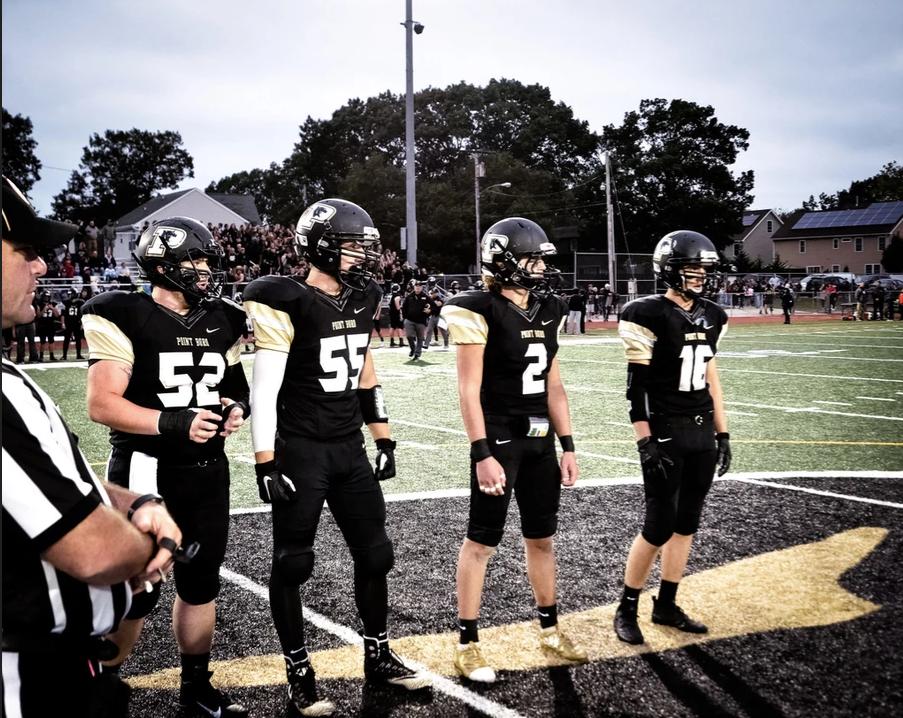 Senior captains left to right: Dan Meccia, Chris Boud, Colby Biggs, and Joey Picolli