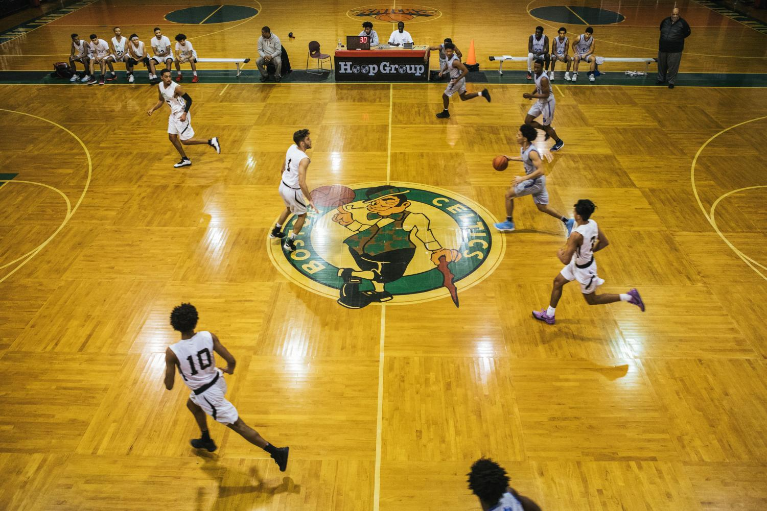Rocktop Academy plays against Covenant College Prep during an afternoon game at Hoop Group in Neptune, New Jersey. Rocktop lost to Covenant