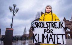 Greta Thunberg protests climate change