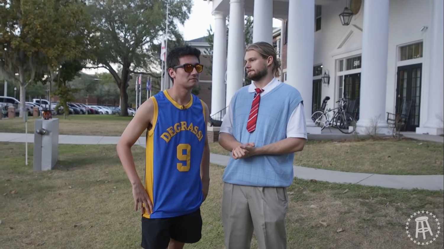 Jeff Netgate being interviewed by Barstool Sports' Caleb Pressley