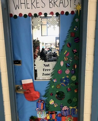 Holiday door decorating and Spirit Week