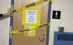 Girls bathroom in math wing.